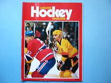 1986/87 VANCOUVER CANUCKS VS MONTREAL CANADIENS HOCKEY PROGRAM CLAUDE LEMIEUX