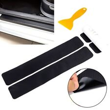 4x Carbon Fibre 3D Car Door Sill Scuff Protector Sticker Cover Tool Universal