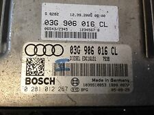 AUDI A4 2.0 TDI ECU 03G906016CL 0281012267 FREE CODING TO SUIT YOUR CAR