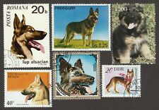 GERMAN SHEPHERD ** Int'l Dog Postage Stamp Art Collection ** Great Gift Idea **