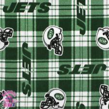 NFL New York Jets Plaid Fleece Fabric 6449 D