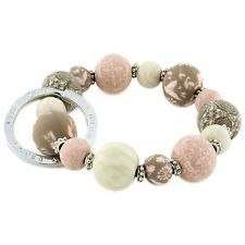JILZARA Keychain Key Ring Wrist Stretch Bracelet Navy Black Pink Star Fish Beads