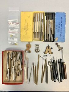 VERY NICE LOT OF WATCHMAKERS - JEWELERS SQUARE PIVOTING GRAVERS - NO RESERVE