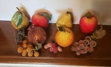 Mid Century Beaded Fruit Decor Fake Home Decor Prop Table Display 10 Pc Set GUC