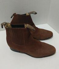 Men's Charro Ankle Boots EL BESSERRO Nubuck Color Black Size 27 1/2