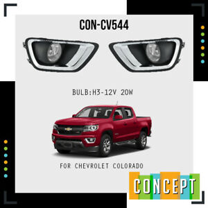 2016-2020 Chevrolet Colorado  Complete Fog Lamp Lights with Bezels