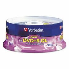 Verbatim Dual-Layer DVD+R Discs, 8.5GB, 8x, Spindle, 30/PK, Silver (VER96542)