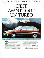 Publicité Advertising  0817  1993  Opel Astra turbo diesel