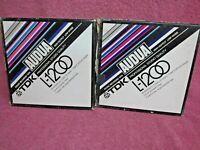 "2 Reels TDK AUDUA L-1200  1200 FT Large HUB Magnetic Recording  Tape 7"" reel"