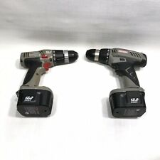 Craftsman 12 Volt 3/8 inch Drill Driver Lot Of 2 With Working Battery Excellent