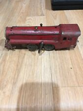 Blk4) Vintage Wind Up Train Metal Unmarked Antique Toy Train Red Works