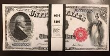 $400 In 1880 $20 Bills USA Play/Prop Money US Notes Hamilton Actual Size 20 Pcs