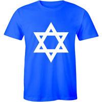 Hanukkah Jewish Star of David Menorah Proud Religion Men's T-shirt Tee