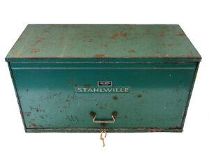 Grosser Werkzeugkasten, Stahlwille; Schubladen und Fächer; Vintage