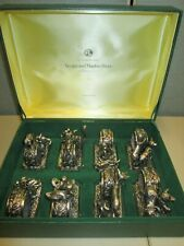 Franklin Mint Animals at Play Antiqued Silverplate Set 8 Sculptured Napkin Rings
