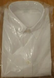 Brookes Brothers Milano Fit White Cotton Seersucker Shirt Size L