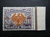 Germany Nazi 1922 Stamps MNH RARE Revenue income Tax Stamp DeutschesReich German