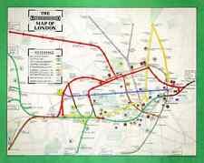 London Underground Tube Map - 1911, 10x8 impresión