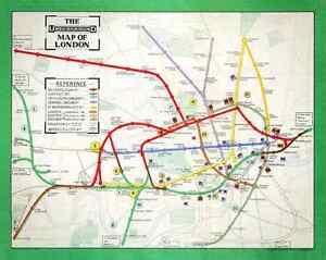 London Underground tube map - 1911, 10x8 print