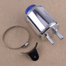 Aluminum Fuel Cell Power Steering Tank Reservoir Pump Tank Kit Racing Breather