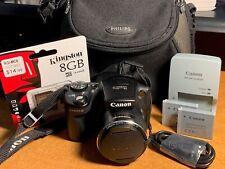 Canon PowerShot SX500 IS 16.0MP Digital Camera + Case + SD Card