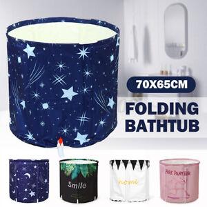 Portable Folding PVC Adult Bathtub Water Spa  Bath Bucket Outdoor Bat i