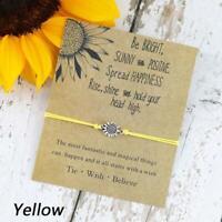 Silber Sonnenblume Wunsch Armband Schwester Freundschaft Armbänder Geschenke