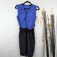 Robert Rodriguez Silk Tie Knot Neck Pencil Midi Dress Women's Size 4