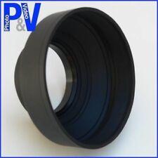 3 Position Rubber Lens Hood 52mm - Canon Nikon etc