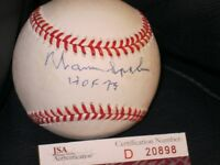 Warren Spahn Autographed Baseball JSA Certified