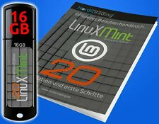 NEU: Linux Mint 20.2 Cinnamon 16 GB  USB-Stick gedr. Handbuch Betriebssystem