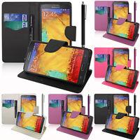 Housse Etui Portefeuille PU Effet Tissu Samsung Galaxy Note 3 Neo/ Lite Duos 3G