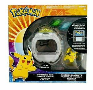 Tomy Pokemon Z-Ring Bracelet Set with Pikachu Figure 4+