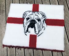 St George's Vet Bedding With Bulldog - Rubber Backed Approx 75cm X 100cm