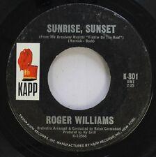 Pop 45 Roger Williams - Sunrise, Sunset / Edelweiss On Kapp