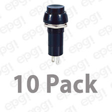 SPST (MOMENTARY-ON) N/O BLACK PUSH BUTTON SWITCH ROUND 3A @ 125V #66-2446-10PK
