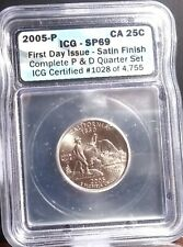 2005 P 25 Cent ICG MS 69   First Day Issue Satin Finish California