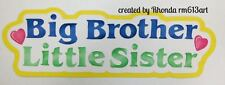 Big Brother/Lil Sister paper piecing title premade scrapbook  Rhonda rm613art