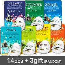 14+3pcs Facial Skin Care Face Mask Sheet Pack Essence Moisture Korean cosmetics