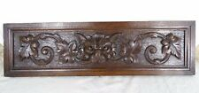 "26"" Antique French Hand Carved Pediment Wood Solid Oak Wood Gothique"