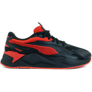 PUMA RS-X3 Prism Men's Lifestyle Sneakers Running Shoes Black-Red 37475801