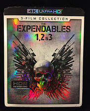 THE EXPENDABLES 1,2 & 3 4K ULTRA HD 3 FILM WALMART EXCLUSIVE WITH SLIPCOVER