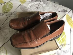 MENS Next TAN LEATHER LINED FORMAL DRESS SMART OFFICE WORK SCHOOL SHOES SIZE 9