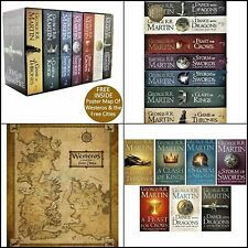 A Game of Thrones Song of Ice and Fire 7 Volume Book Set by George R.R. Martin