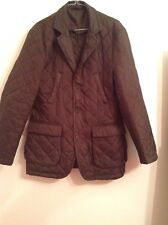 BNWTT 100% auth William Hunt Mens Dark Green Quilted jacket L RRP £360.00