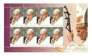 Tristan da Cunha 2005 - SC# 783 - Pope John Paul II - Sheet of 8 Stamps - MNH