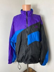 Vintage 90's Nike air men's multicolored full-zip windbreaker gray tag size L