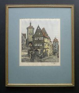 Figura, Hans, Wien, Rothenburg, Köln, Original, handsigniert, verzeichnet, Top