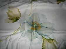 LIZ CLAIBORNE FLORAL WASH Teal  Green KING 310TC PILLOW SHAMS Lot of 2 NEW