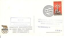 Olympic Games 1960/ ORGANIZING COMMITTTEE Cancel !! 1959 on (maximum card )